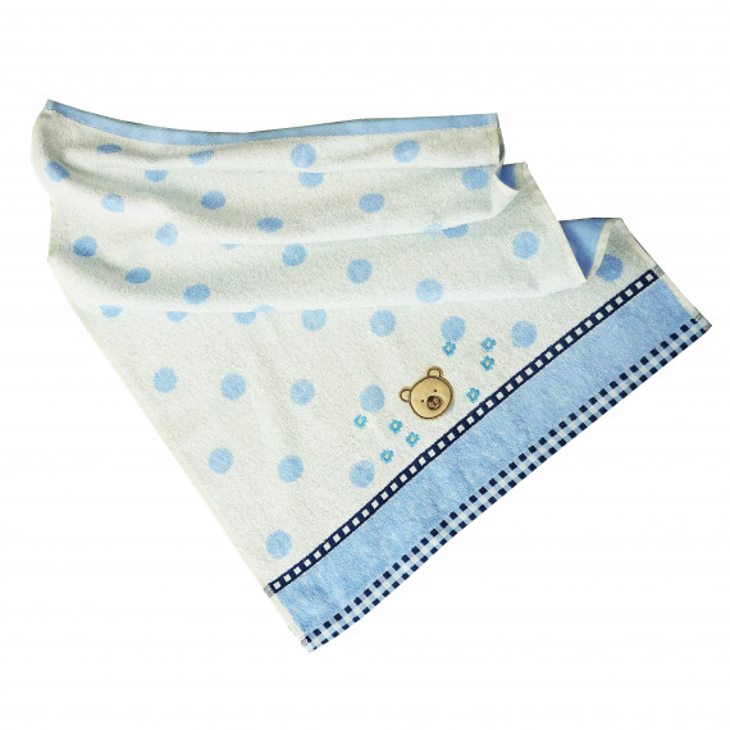 Detský uterák bavlnený Baby modrý