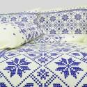 Obliečky bavlnené Etno krémovo-modré EMI