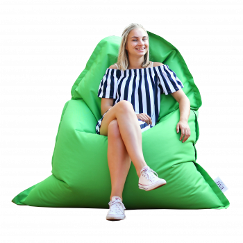 sedací vak vankúš zelený