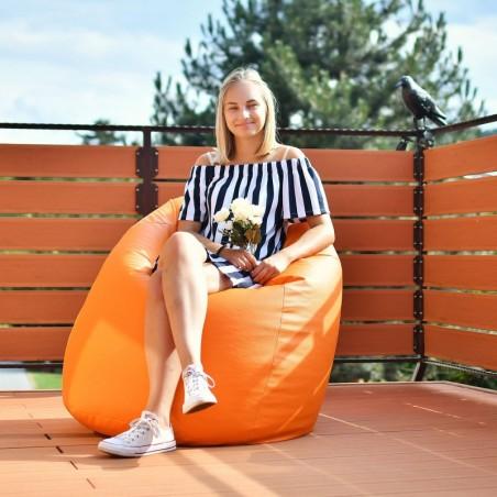 Sedací vak hruška oranžová EMI