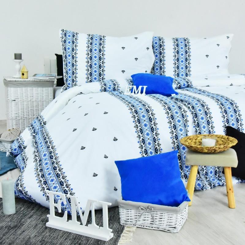 Obliečky bavlnené Dorota modré EMI