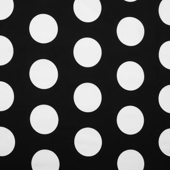 Látka metráž 100% bavlna delux Dots čierne