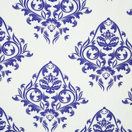 Látka metráž 100% bavlna delux Atény modré