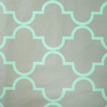 Látka metráž bavlna 100 % Don Dolce sivo-zelené CNM