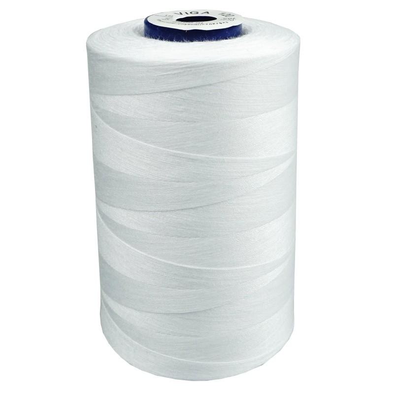 biela polyestérová niť na ručné aj strojové šitie