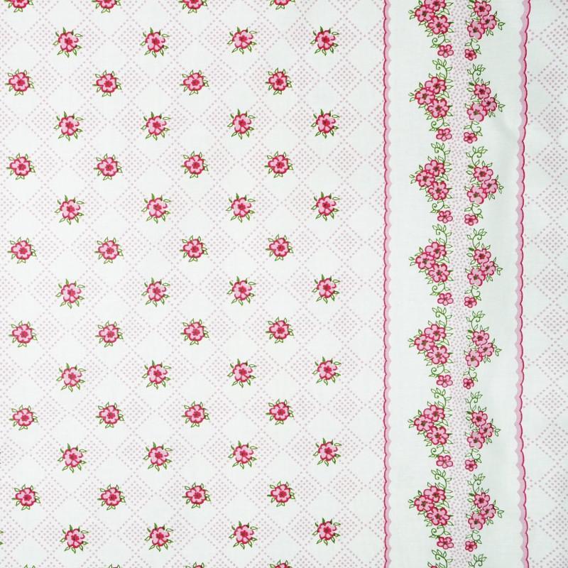 Látka metráž bavlna 100 % delux Paraiba ružové CNM