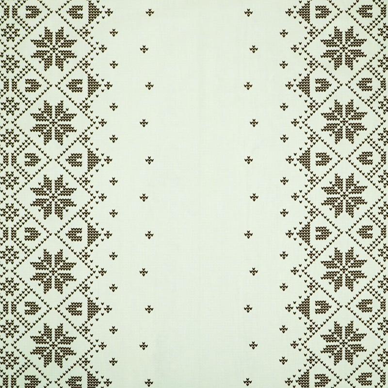 Látka metráž 100% bavlna delux Etno krémovo-hnedé