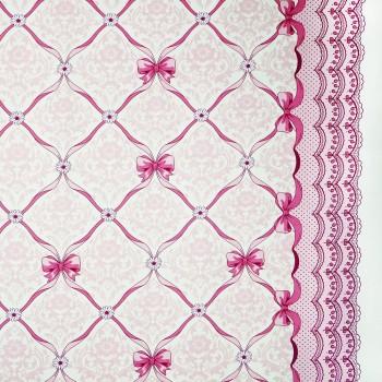 Látka metráž 100% bavlna delux Vintage ružové