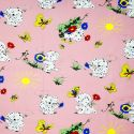 Látka metráž bavlna 100 % Don Dalmatínec ružový CNM