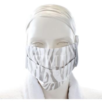 Ochranné rúško dvojvrstvové textilné hnedé s gumičkou EMI