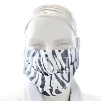 Ochranné rúško dvojvrstvové textilné sivé s gumičkou EMI