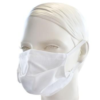 Ochranné rúško jednovrstvové textilné biele s gumičkou EMI