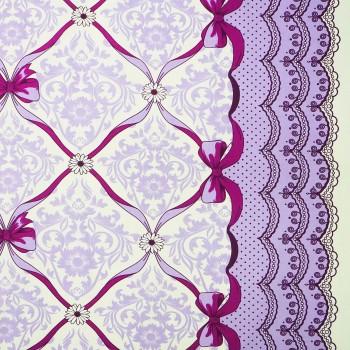 Látka metráž 100% bavlna delux Vintage fialové