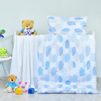 Obliečky detské bavlnené Obláčiky modré EMI
