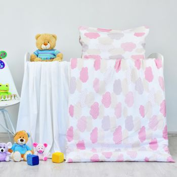 Obliečky detské bavlnené Obláčiky ružové EMI