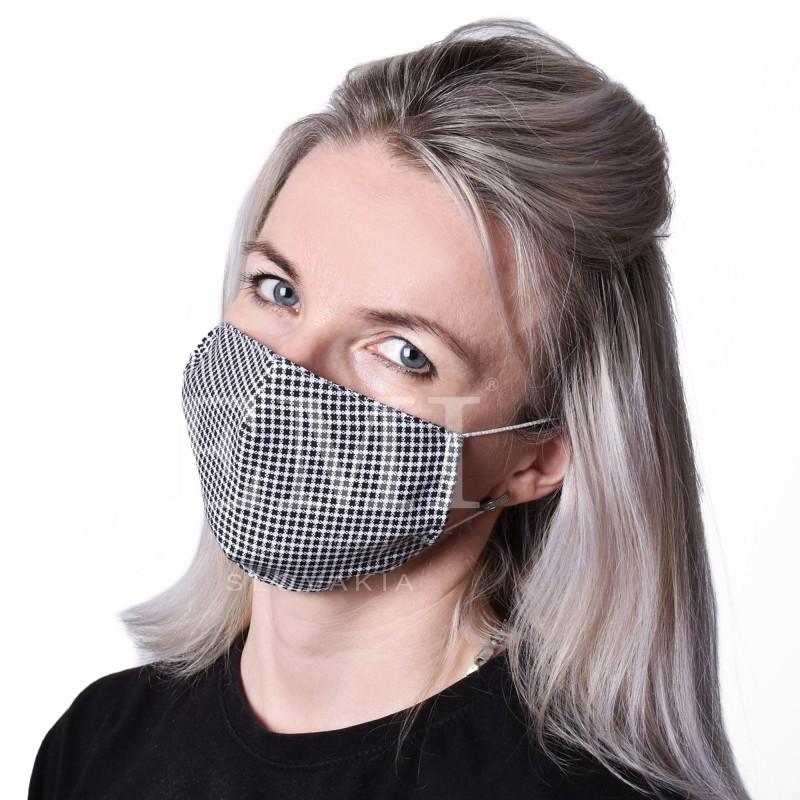 Ochranné rúško dvojvrstvové textilné Kocka s gumičkou EMI