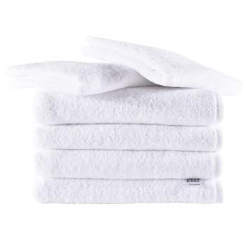 Sada uteráky a osušky bavlnené biele 4 ks 50 x 100 cm + 2 ks 70 x 140 cm EMI