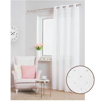Záclona Migot 140 x 260 cm biela