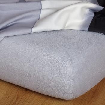 Plachta posteľná sivé froté EMI