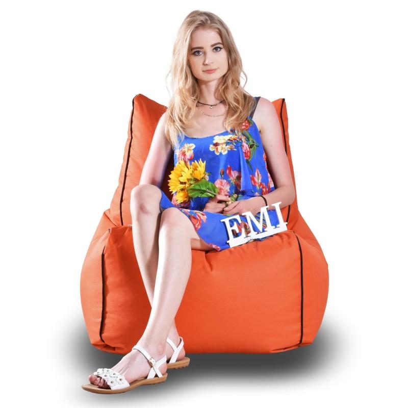 Sedací vak stolička nylonová oranžová