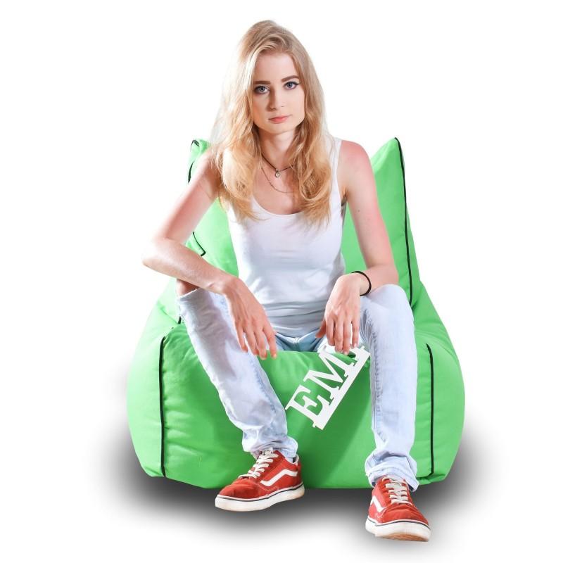 Sedací vak stolička nylonová zelená EMI