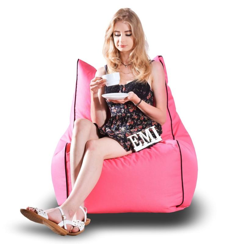 Sedací vak stolička nylonová ružová
