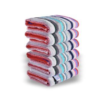 Sada farebných bavlnených uterákov 6 ks rozmer 50x90 cm