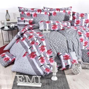 Obliečky bavlnené Magnoli sivé EMI