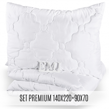Set predĺženej prikrývky a vankúša Premium 140x220 90x70 EMI