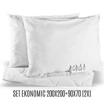 Set manželskej prikrývky a vankúšov Ekonomic 200x200 + 90x70 (2x) EMI