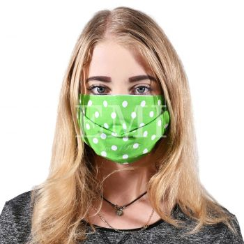 Ochranné rúško dvojvrstvové textilné zelené s gumičkou EMI