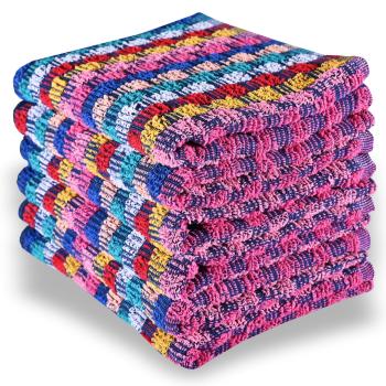 Sada farebných bavlnených uterákov 6 ks 50x70 cm Colorissima
