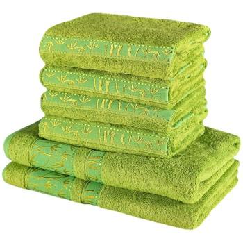 Sada zelených bambusových osušiek a uterákov EMI