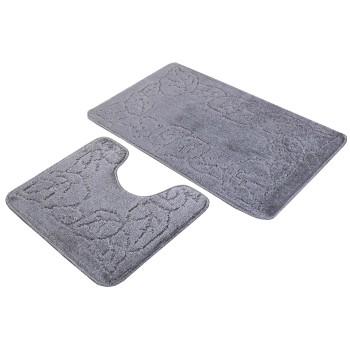 Kúpeľňové predložky set 2 kusov Tania sivé