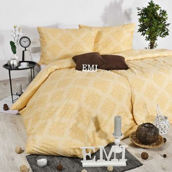 Obliečky ornament Exclusive satén žlté EMI