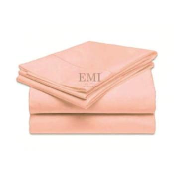 Plachta posteľná lososová pevná EMI