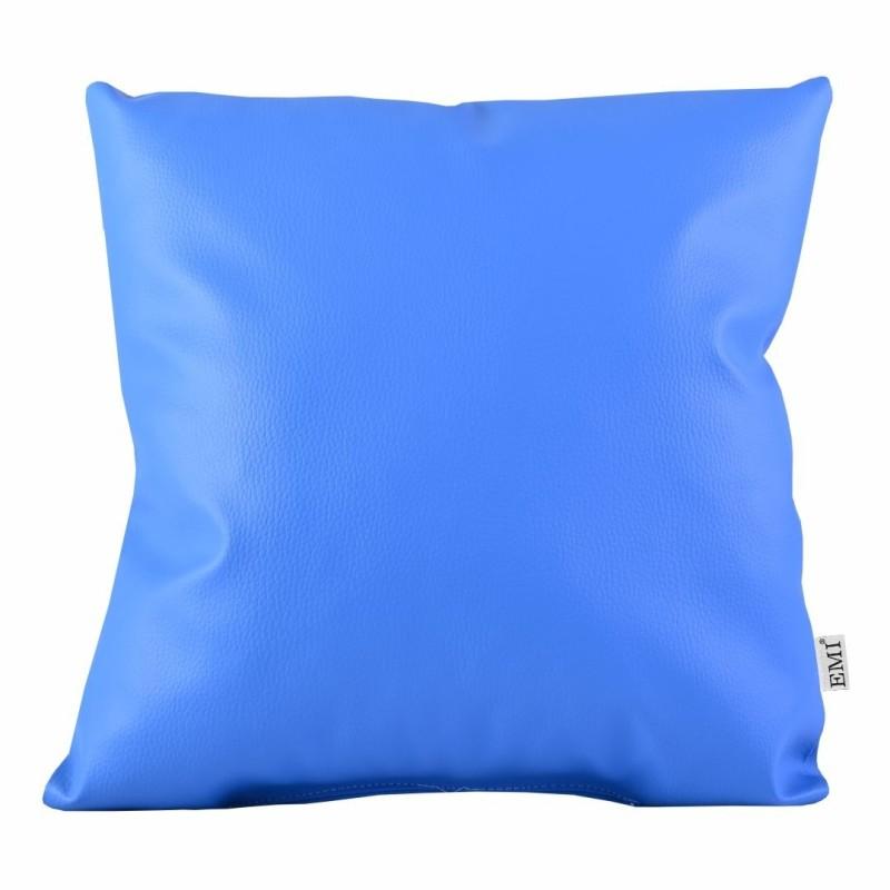 Vankúš 40x40 modrý ekokoža EMI