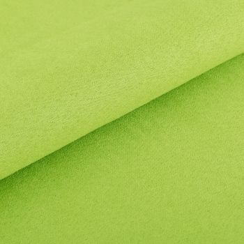 Metráž semiš zelený S6 EMI