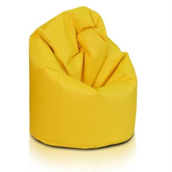 žlltý sedací vak