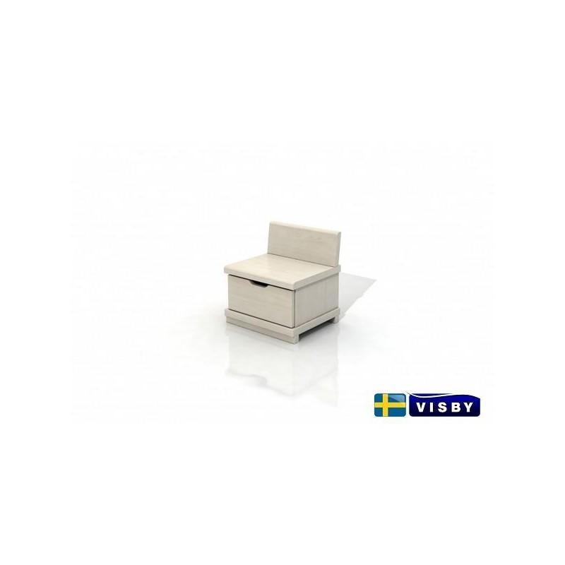 Nočný stolík borovicový Arhus s jednou zásuvkou - Visby