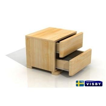 Nočný stolík borovicový Sandemo High s dvomi zásuvkami - Visby