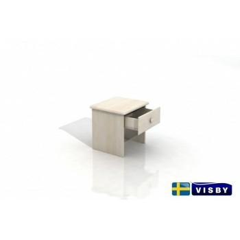 Nočný stolík borovicový Stavanger s jednou zásuvkou - Visby