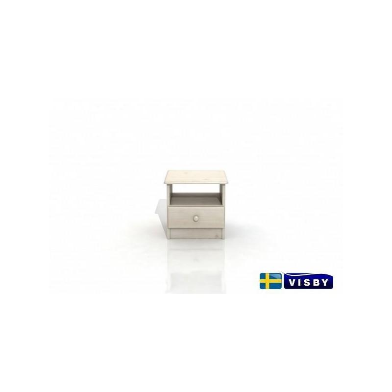 Nočný stolík borovicový Stavanger s jednou zásuvkou dole - Visby
