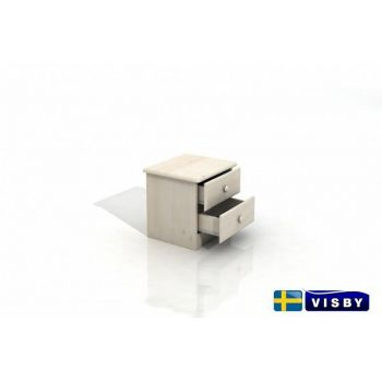 Nočný stolík borovicový Stavanger s dvomi zásuvkami - Visby
