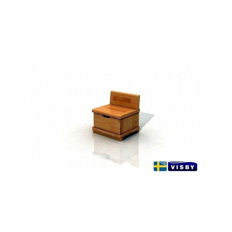 Nočný stolík bukový Arhus s jednou zásuvkou - Visby