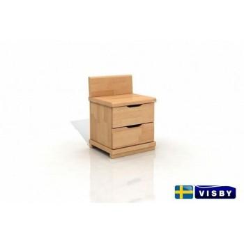 Nočný stolík bukový Arhus s dvomi zásuvkami - Visby