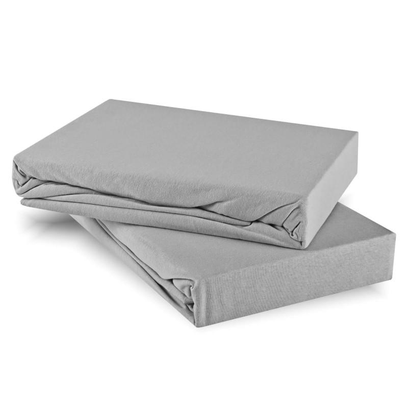 Plachta posteľná sivá jersey EMI