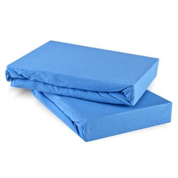 Plachta posteľná modrá jersey EMI