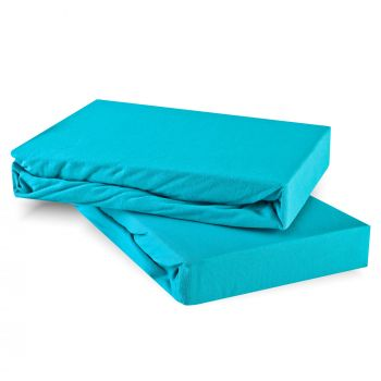 Plachta posteľná tyrkysová jersey EMI