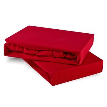 Plachta posteľná červená jersey EMI